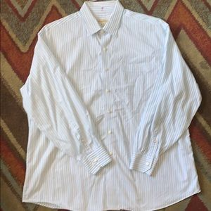 Tommy bahama blue and grey button front